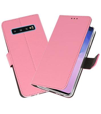 Wallet Cases Hoesje voor Samsung Galaxy S10 Roze