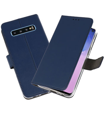 Wallet Cases Hoesje voor Samsung Galaxy S10 Navy