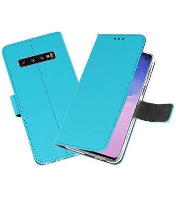 Wallet Cases Hoesje voor Samsung Galaxy S10 Blauw