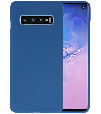 Color TPU Hoesje voor Samsung Galaxy S10 Navy