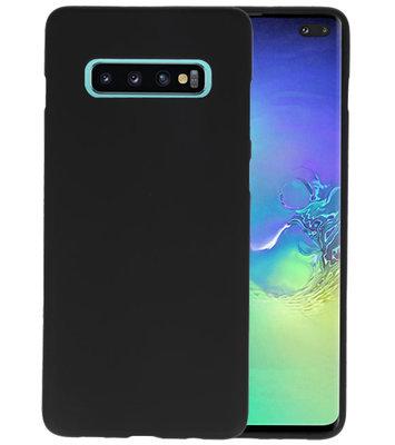 Color TPU Hoesje voor Samsung Galaxy S10 Plus Zwart