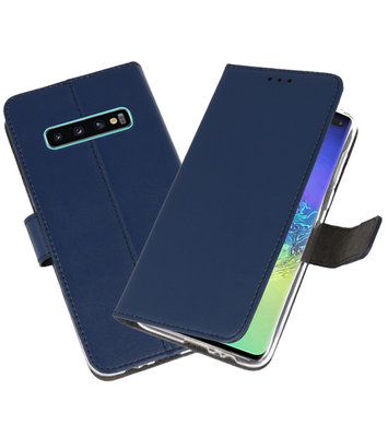 Wallet Cases Hoesje voor Samsung Galaxy S10 Plus Navy