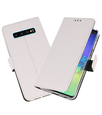 Wallet Cases Hoesje voor Samsung Galaxy S10 Plus Wit