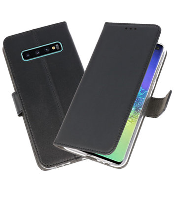 Wallet Cases Hoesje voor Samsung Galaxy S10 Plus Zwart