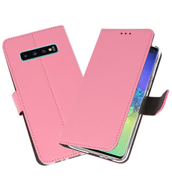 Wallet Cases Hoesje voor Samsung Galaxy S10 Plus Roze