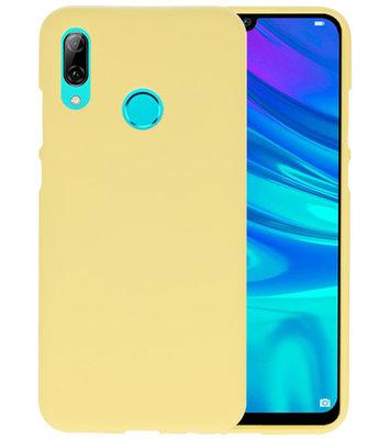 Color TPU Hoesje voor Huawei P Smart 2019 Geel