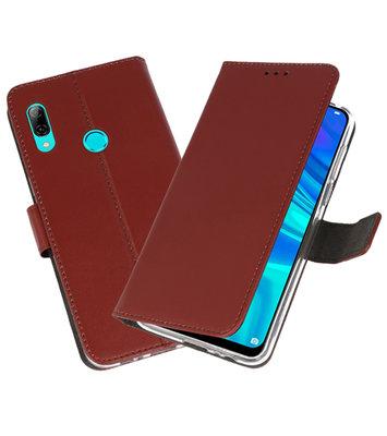 Wallet Cases Hoesje voor Huawei P Smart 2019 Bruin