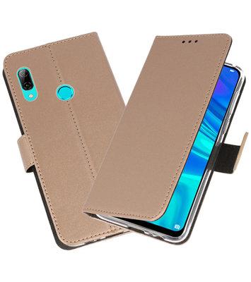 Wallet Cases Hoesje voor Huawei P Smart 2019 Goud