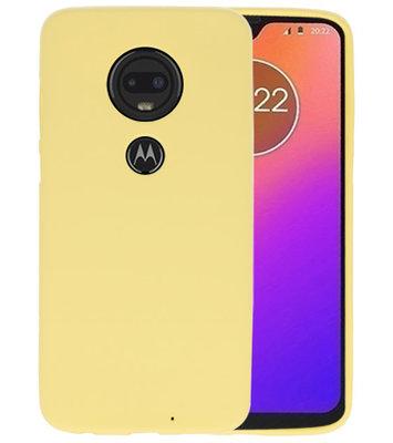 Color TPU Hoesje voor Motorola Moto G7 Geel