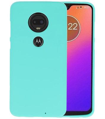 Color TPU Hoesje voor Motorola Moto G7 Turquoise