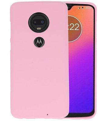 Color TPU Hoesje voor Motorola Moto G7 Roze