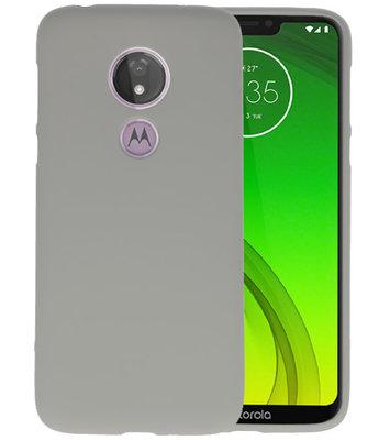 Color TPU Hoesje voor Motorola Moto G7 Power Grijs