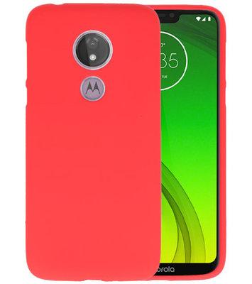 Color TPU Hoesje voor Motorola Moto G7 Power Rood