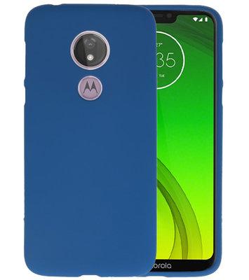 Color TPU Hoesje voor Motorola Moto G7 Power Navy