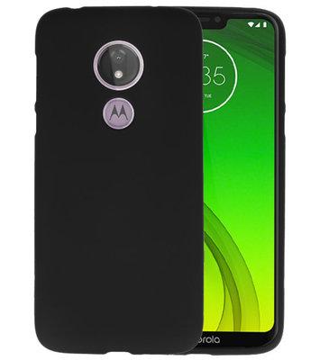 Color TPU Hoesje voor Motorola Moto G7 Power Zwart