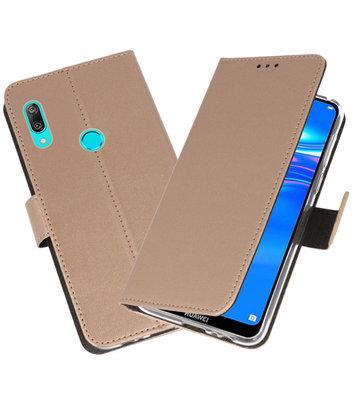 Wallet Cases Hoesje voor Huawei Y7 / Y7 Prime (2019) Goud