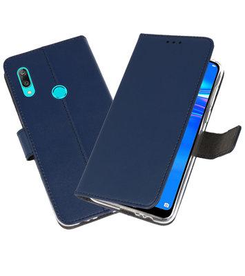 Wallet Cases Hoesje voor Huawei Y7 / Y7 Prime (2019) Navy