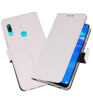 Wallet Cases Hoesje voor Huawei Y7 / Y7 Prime (2019) Wit