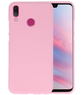 Color TPU Hoesje voor Huawei Y9 2019 Roze