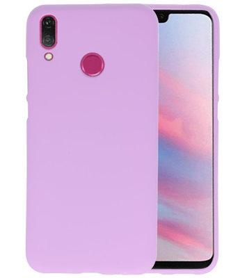 Color TPU Hoesje voor Huawei Y9 2019 Paars