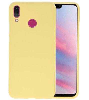 Color TPU Hoesje voor Huawei Y9 2019 Geel