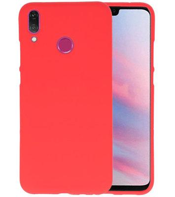 Color TPU Hoesje voor Huawei Y9 2019 Rood