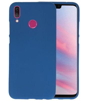 Color TPU Hoesje voor Huawei Y9 2019 Navy