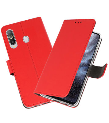 Wallet Cases Hoesje voor Samsung Galaxy A8s Rood