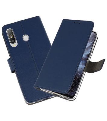 Wallet Cases Hoesje voor Samsung Galaxy A8s Navy