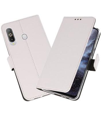 Wallet Cases Hoesje voor Samsung Galaxy A8s Wit