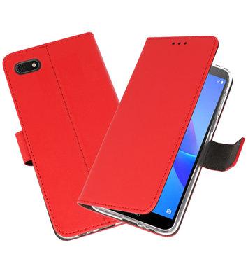 Wallet Cases Hoesje voor Huawei Y5 Lite 2018 Rood