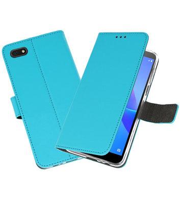 Wallet Cases Hoesje voor Huawei Y5 Lite 2018 Blauw
