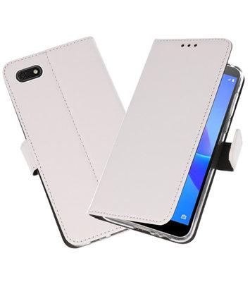 Wallet Cases Hoesje voor Huawei Y5 Lite 2018 Wit