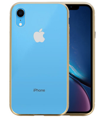Magnetic Back Cover voor iPhone XR Goud - Transparant