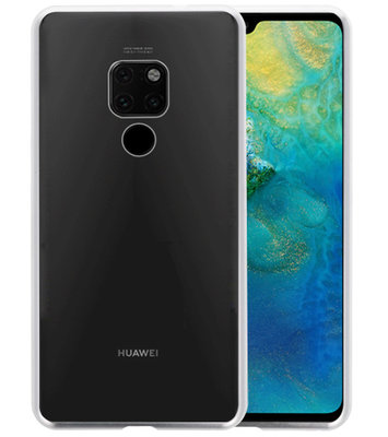 Magnetic Back Cover voor Huawei Mate 20 Zilver - Transparant