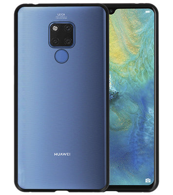 Magnetic Back Cover voor Mate 20 X Zwart - Transparant