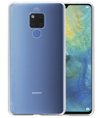 Magnetic Back Cover voor Mate 20 X Zilver - Transparant