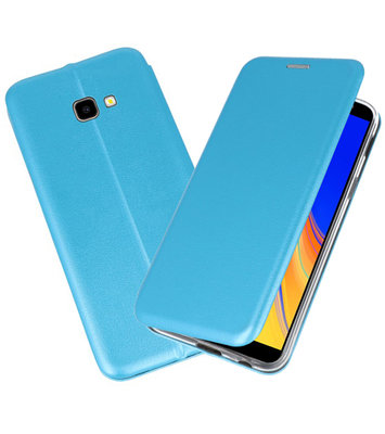 Blauw Slim Folio Case voor Samsung Galaxy J4 Plus