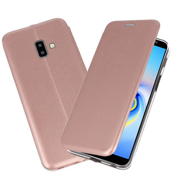 Roze Slim Folio Case voor Samsung Galaxy J6 Plus