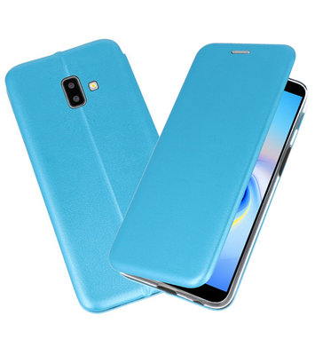 Blauw Slim Folio Case voor Samsung Galaxy J6 Plus