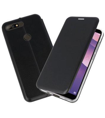 Slim Folio Case voor Huawei Y7 / Y7 Prime 2018 Zwart