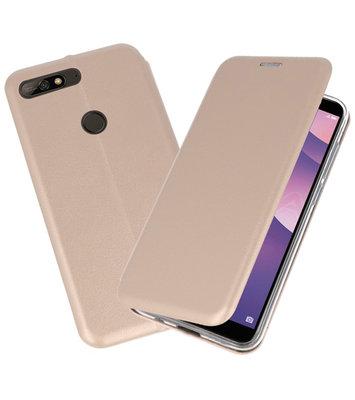 Slim Folio Case voor Huawei Y7 / Y7 Prime 2018 Goud
