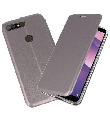 Slim Folio Case voor Huawei Y7 / Y7 Prime 2018 Grijs