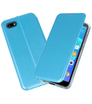 Slim Folio Case voor Huawei Y5 Lite / Y5 Prime 2018 Blauw