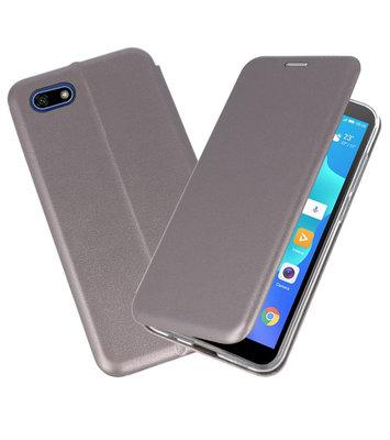 Slim Folio Case voor Huawei Y5 Lite / Y5 Prime 2018 Grijs