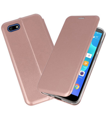 Slim Folio Case voor Huawei Y5 Lite / Y5 Prime 2018 Roze