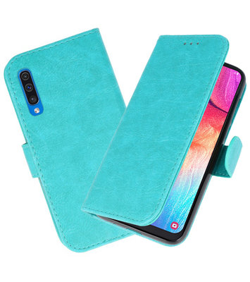 Bookstyle Wallet Cases Hoesje voor Samsung Galaxy A50 Groen