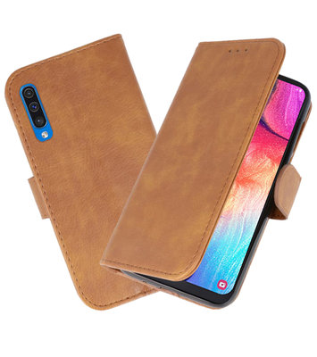 Bookstyle Wallet Cases Hoesje voor Samsung Galaxy A50 Bruin