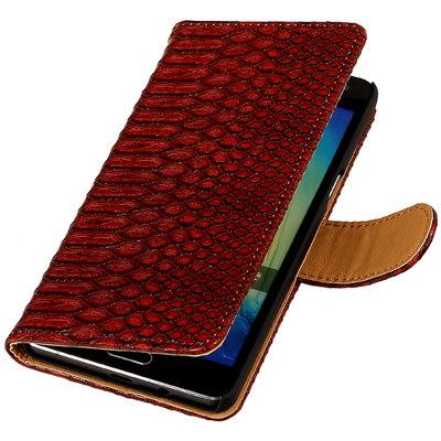 Bestcases Slang Rood Hoesje voor LG G3 Bookcase Cover