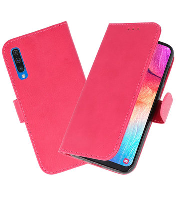 Bookstyle Wallet Cases Hoesje voor Samsung Galaxy A50 Roze